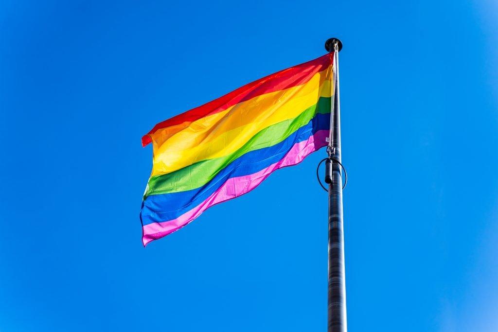 Frankrijkstraat regenboogvlag | Rue de France drapeau arc-en-ciel